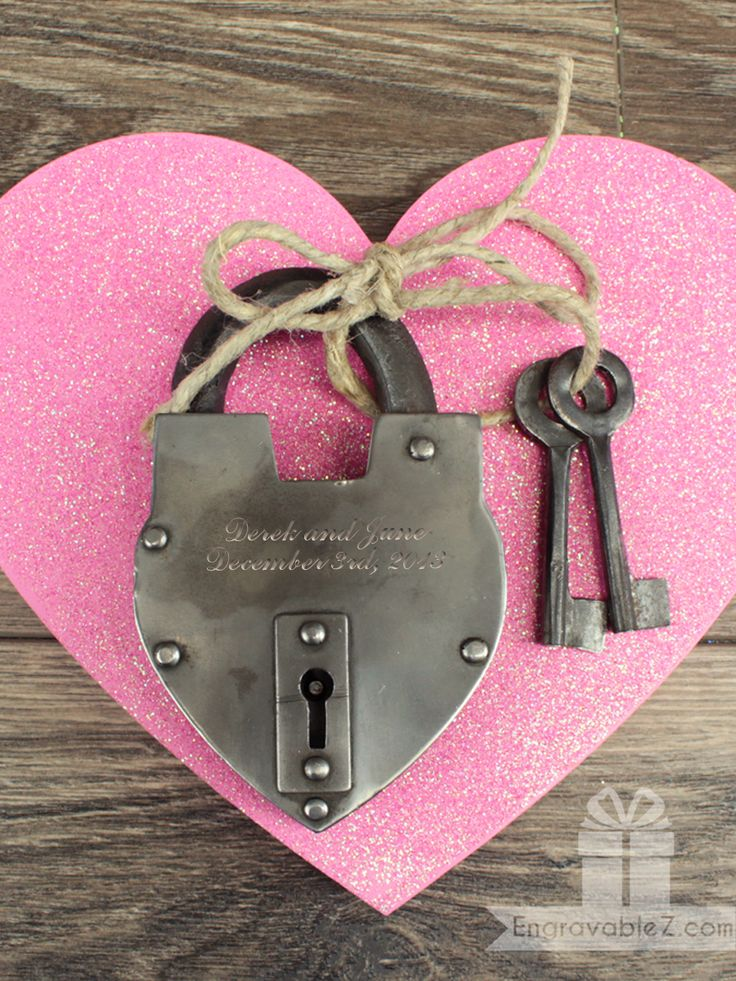 Love locks are a Valentine's Day classic. Locks are perfect for symbolizing your infinite love. Lock it in a meaningful spot and keep the keys safe with you. (EngravableZ.com) #EngravableZ #LoveLock #Silver #Love #ValentinesDay #ValentinesDayGift #ValentinesDayGiftIdeas #Lock #CoupleGifts #Gifts #Valetines #Engraved #Custom #Personalized