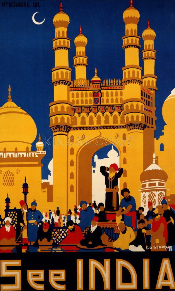 See India, Hyderabad Art Print by C. D. Deuskar at King & McGaw