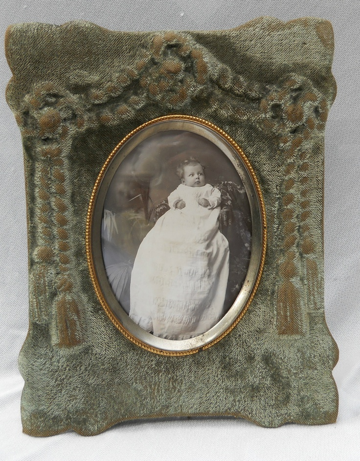 Antique Victorian Velvet Picture Frame Dated 1882 With