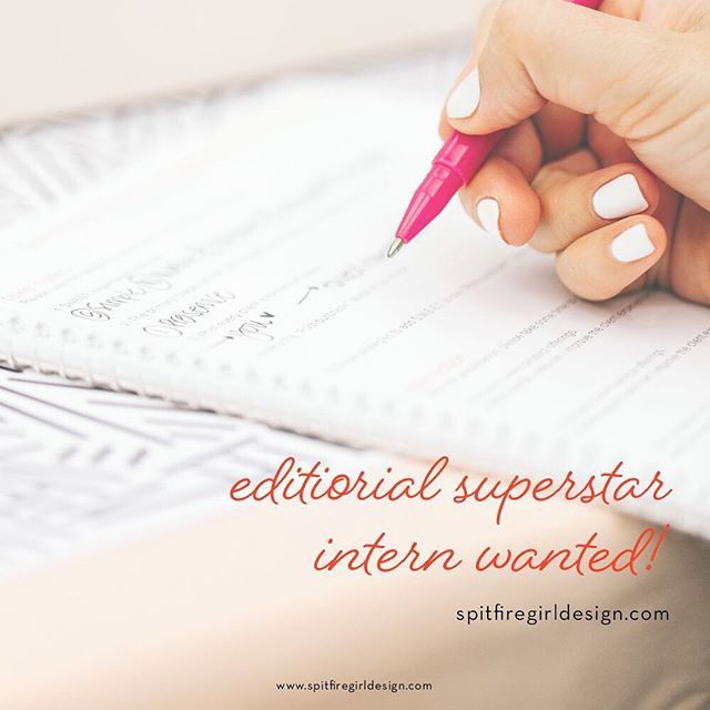 We are looking for an editorial *superstar* intern to join our team for the winter-spring internship session. What does that mean? • You've got great concepts & a unique point of view • You're organized and punctual • You approach your writing with your client's marketing needs in mind • You have a side passion for design and know your way around Photoshop • You crave inspiring imagery and interesting clients • You've got a great sense of humor • You're looking for a casual work environment…