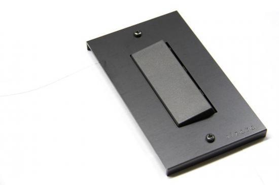 黒皮鉄のスイッチプレート 長穴