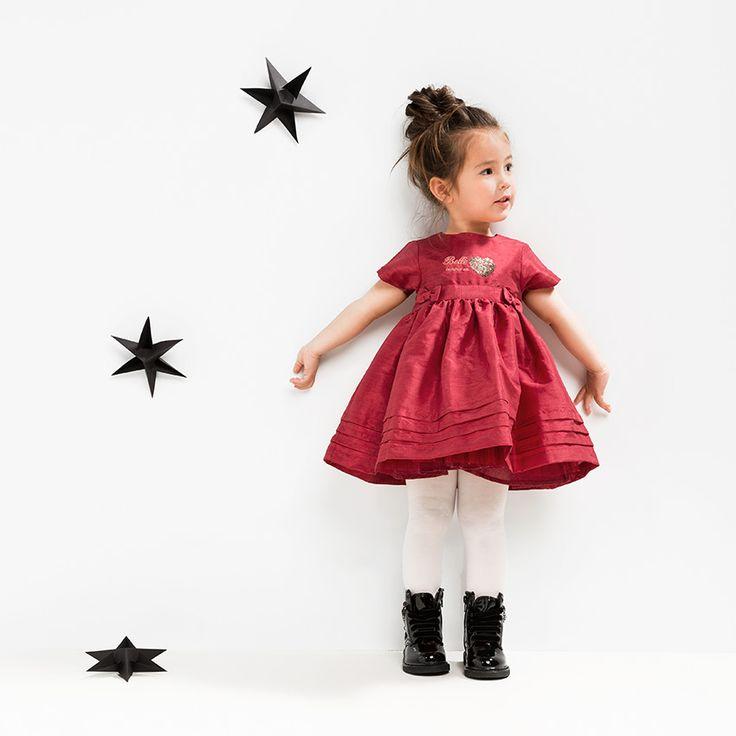 ★• ˚ ˚ • Christmas Time • ˚ ˚ •★ Robe effet soie avec noeuds fantaisie et coeur en sequins #Christmas #noel #Xmas #gift #fashion