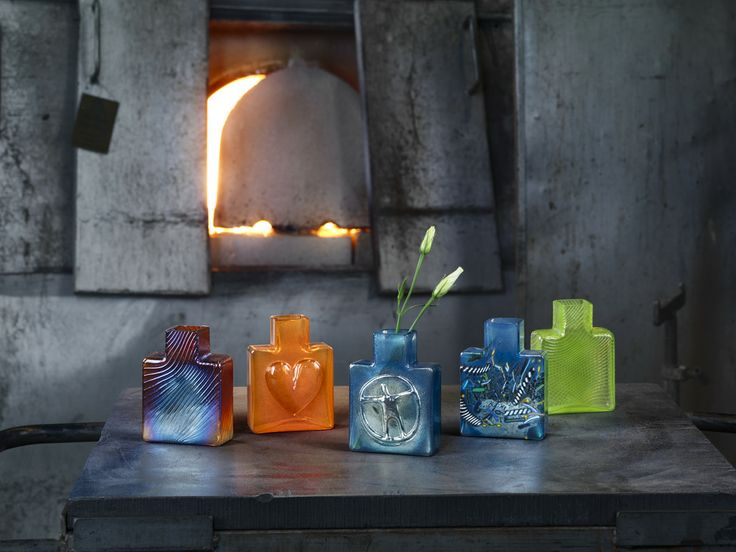 The Because series by Bertil Vallien for Kosta Boda shot in the hot shop in Kosta