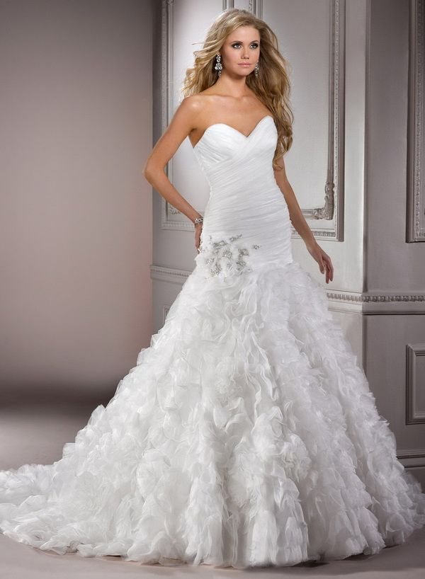 Nice Maggie Sottero Fit and Flare Wedding Dresses