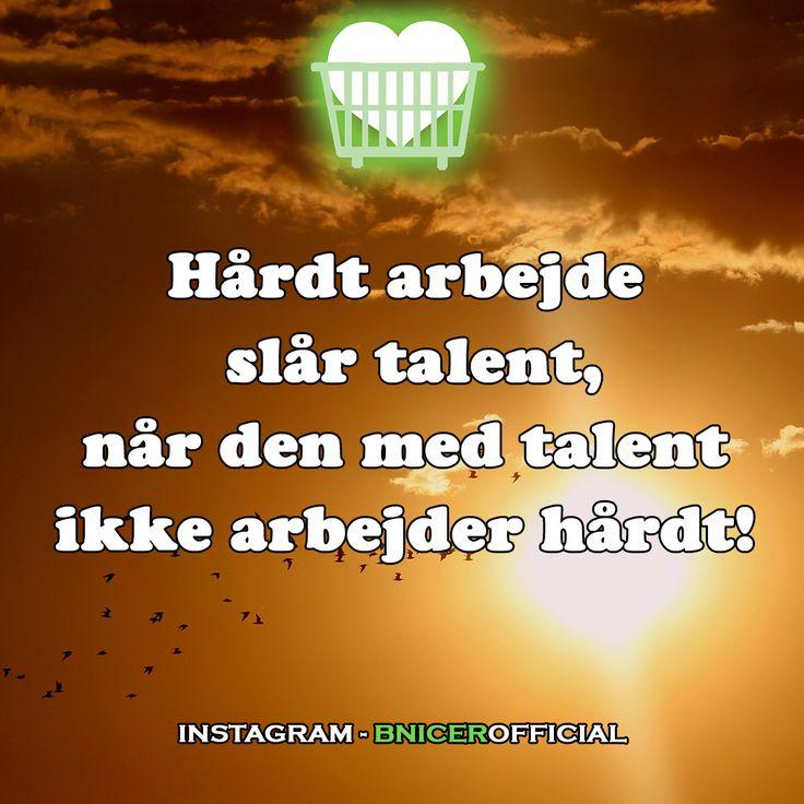 Hårdt arbejde slår talent, når den med talent ikke arbejder hårdt!