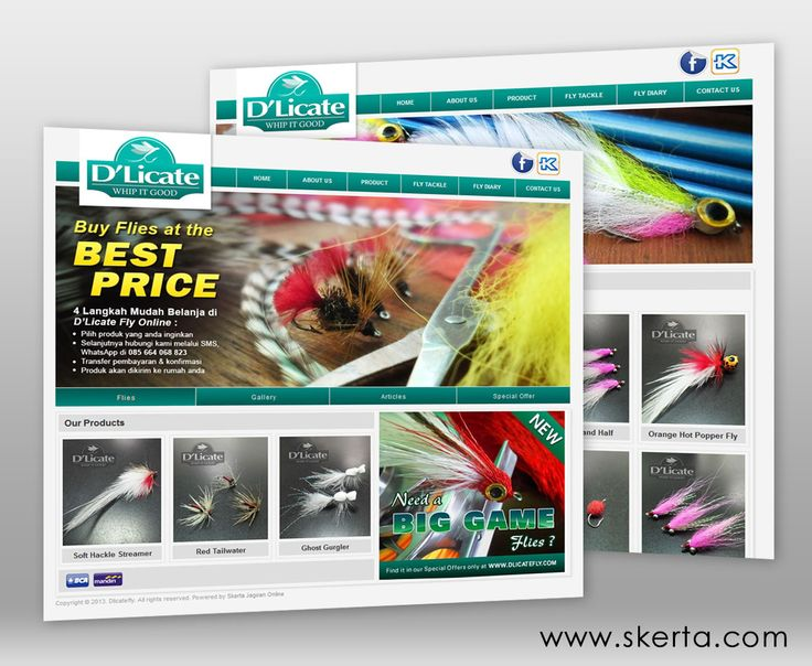 D'Licate Fly merupakan website yang menjual berbagai perlengkapan untuk memancing dengan teknik fly fishing