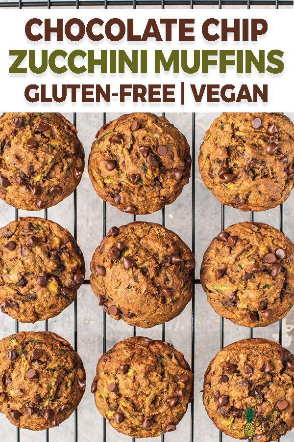 Chocolate Chip Zucchini Muffins Gluten Free Sweet Simple Vegan Recipe In 2020 Zucchini Chocolate Chip Muffins Zucchini Muffins Vegan Recipes Healthy