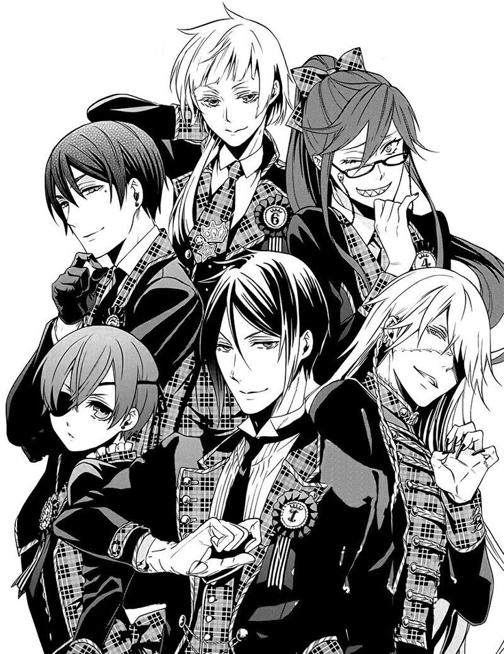 Vincent, Charles, Grell, Ciel, Sebastian and Undertaker