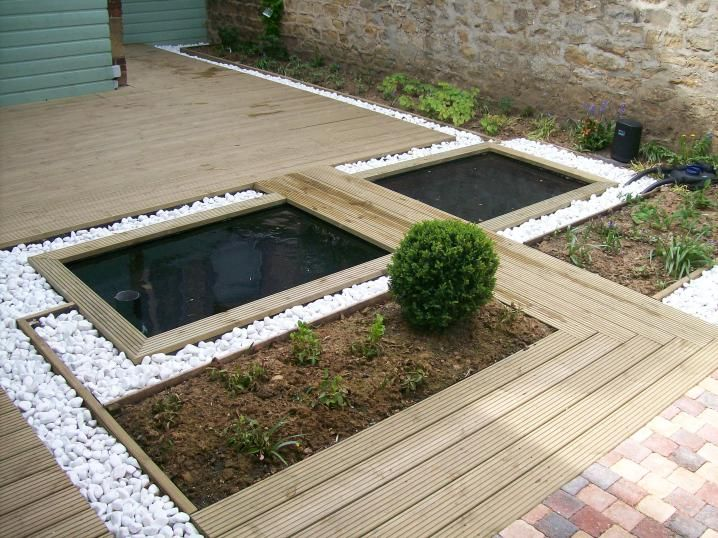 bassin et terrasse bois in the garden pinterest. Black Bedroom Furniture Sets. Home Design Ideas