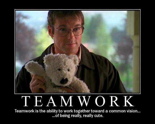 Teamwork: Daniel Jackson & Teddy Bear by PollyQ, via Flickr