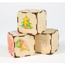 """Деревянная игрушка Вуди/Woody дидактический Набор Кубики-умники/ Набор """"Кубики-умники""""         содержит 9 кубиков Деревянная игрушка """"Вуди"""" дидактический Набор """"Кубики-умники"""" предназначена для знакомства малыша с буквами русского алфавита, знаками препинания и математическими знаками. Возможно использование в качестве деталей для составления конструкций.  Игрушка развивает внимание, сообразительность, логические и комбинаторные способности.  Игрушка идеальна для разукрашивания!  Размер…"""