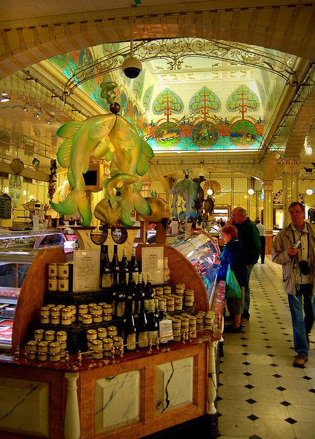 Harrod's Food Court. Such lovely food from all over the world here.