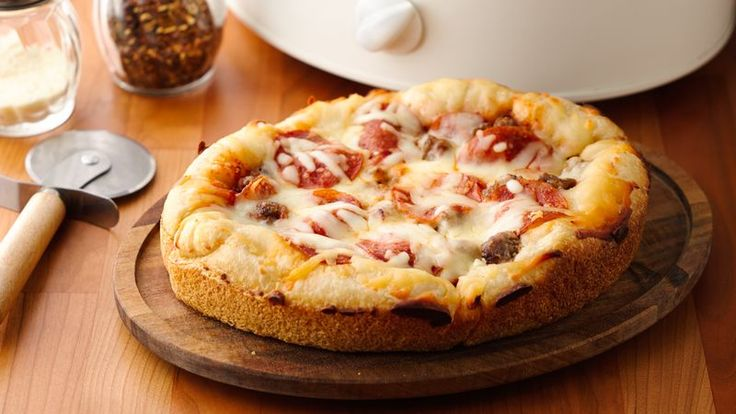 Your friends and family will be amazed at how good this slow-cooker pizza is!