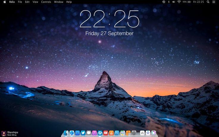 iOS 7 Clock for GeekTool by SkyJohn.deviantart.com on @deviantART