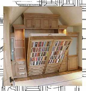 The Flying Bed. Fold Out Bookcase And Bed.