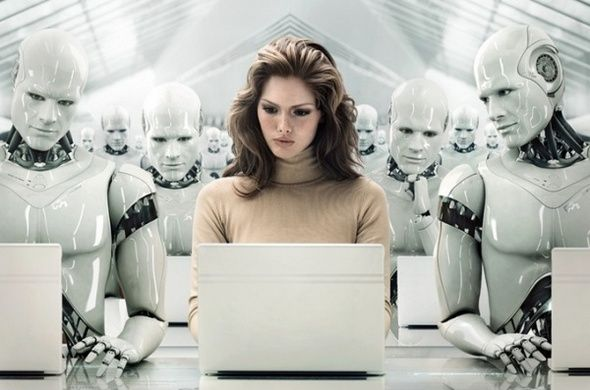 Would YOU take orders from a robot? Hitachi hires machine manager for its warehouse workers | The program (not shown) is designed to boost efficiency in warehouses in Japan, but for some, the invention may be a step towards a future where humans are controlled by robotic overlords. [The Future of Robots: http://futuristicnews.com/category/future-robots/  The Future of Humanity: http://futuristicshop.com/category/the-philosophy-of-the-future-predictions-futurism-future-trends/]