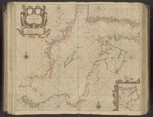 Page 8  Zee-atlas; Colom, Arnold 1656? Albert and Shirley Small Special Collections Library, University of Virginia.  http://search.lib.virginia.edu/catalog/uva-lib:2287415/view#openLayer/uva-lib:2380009/6495.5/8526/2/1/0