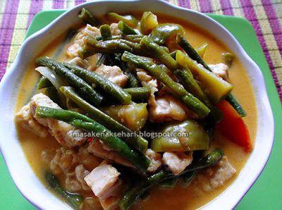 Resep Kacang Panjang Tempe Kuah Santan | Resep Masakan Indonesia - masakenaksehari.blogspot.com