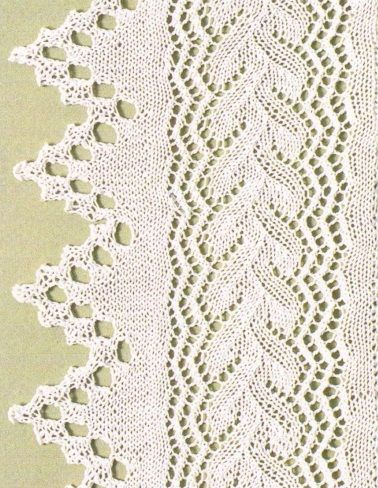 with chart; there are more beautiful knitting patterns on this site