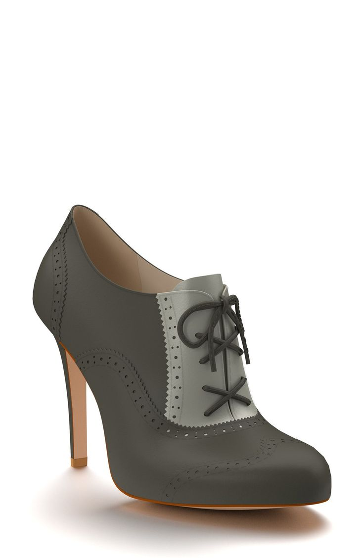 Shoes of Prey Brogue Leather Bootie (Women)