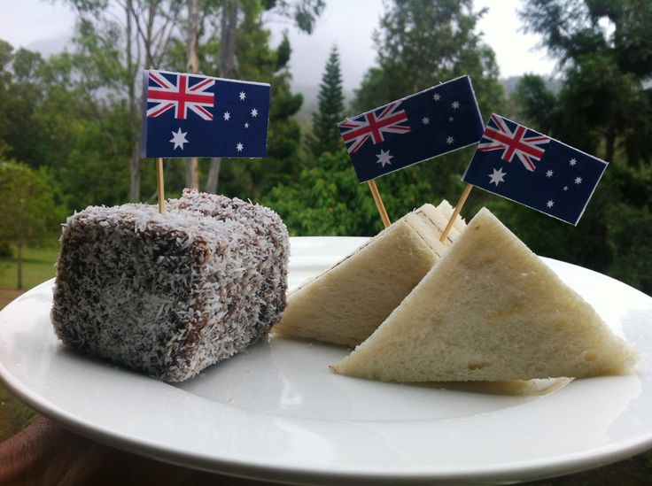 What better way to celebrate Australia Day, than with Lamingtons and 'iconic' vegemite sandwiches.  The mountain backdrop is in cloud, so we decided to replicate Mt Barney with the sandwiches!