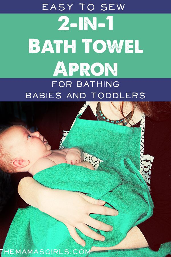Easy to Sew 2-in-1 Bath Towel Apron - This would be a great BABY SHOWER GIFT!