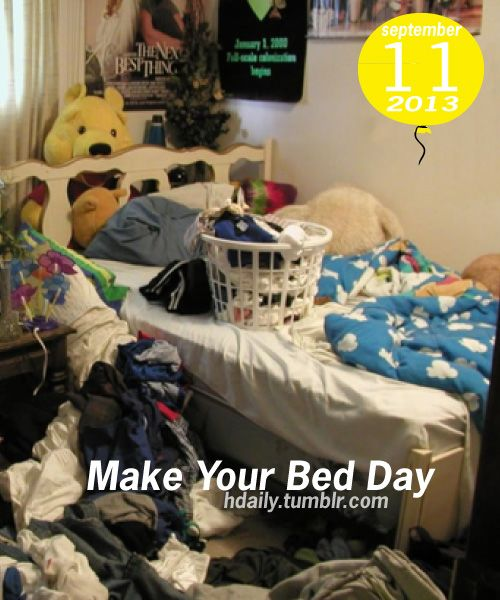 Make Your Bed Day!