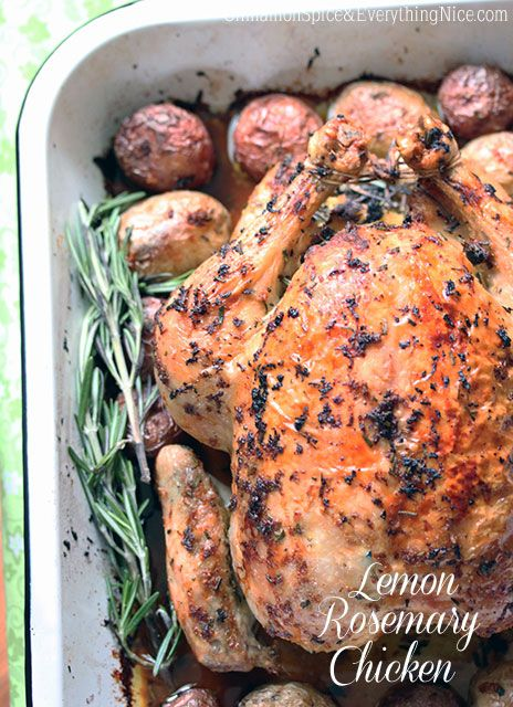 Lemon Rosemary Chicken - dinner last night.  Easy and delish!  The house smelled amazing