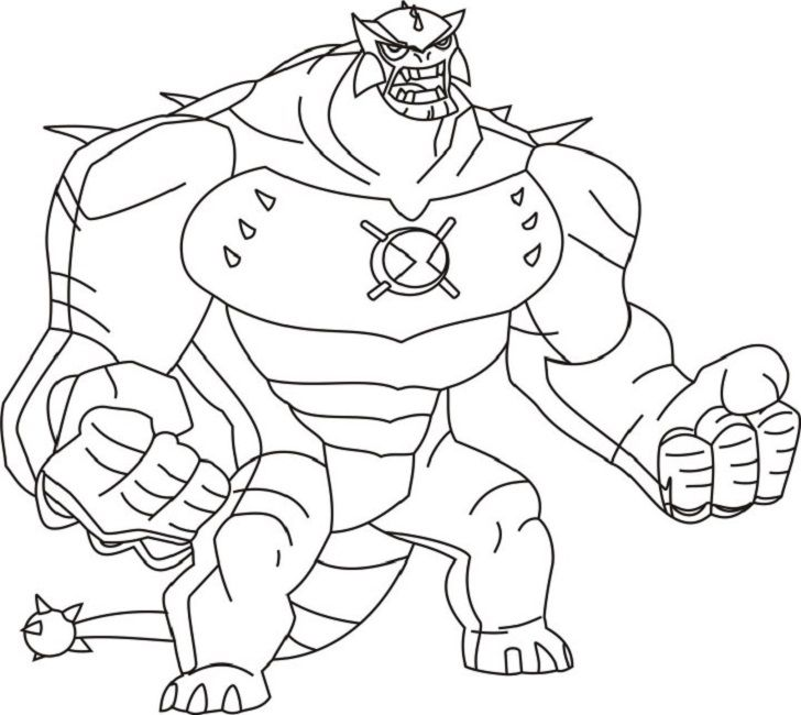 Ben 10 Omniverse Coloring Pages Printable Cartoon Coloring Pages 808