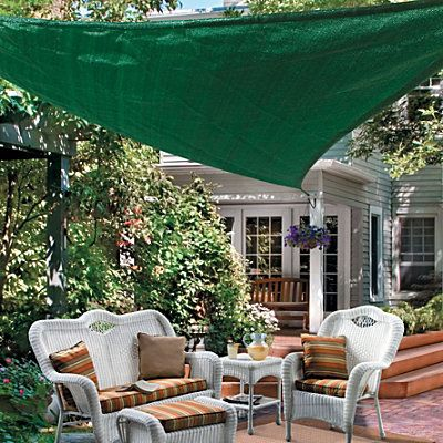 Shade Sails Triangle 16 5 Quot 140 I Like This Better Than