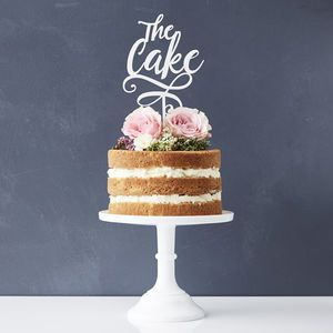 'The Cake' Personalised Cake Topper - cake decorations & toppers
