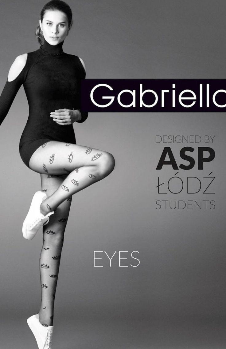 Gabriella Eyes code 380 rajstopy Rewelacyjne wzorzyste rajstopy, limitowana kolekcja, wykonane z włókna Lycra podwójnie oplecionego jedwabiem poliamidowym