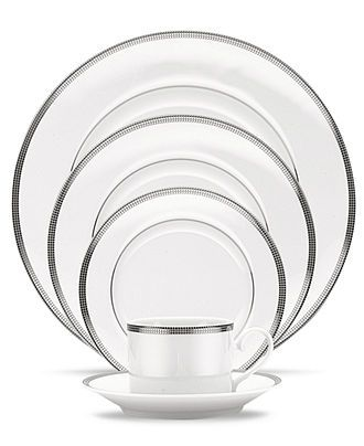 Noritake Dinnerware, Pembroke Platinum Collection - Noritake - Dining & Entertaining - Macy's Bridal and Wedding Registry