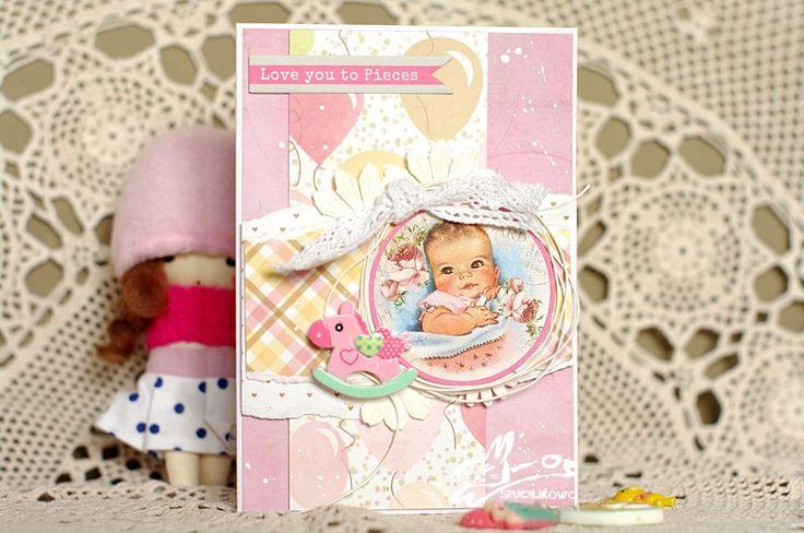 Spuchlikowo: #153 Kartka dla maluszka czyli zabawa w liftowanie