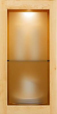 Glass doors modern etched frosted glass from kraftmaid for Kraftmaid doors
