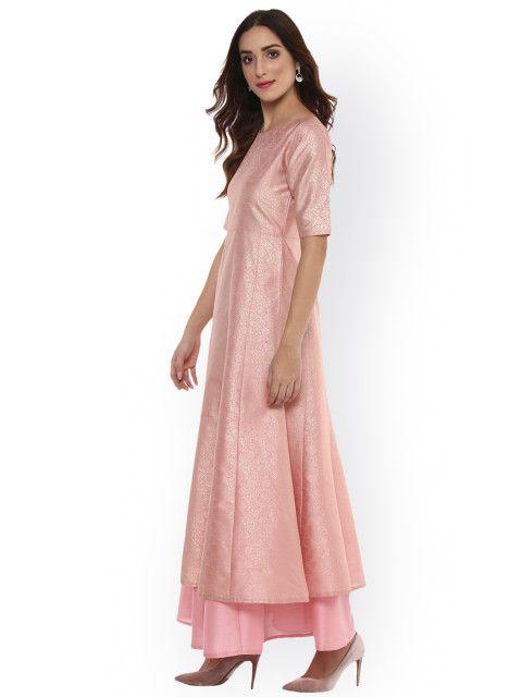 702cb541bc3 Buy Ahalyaa Women Pink Anarkali Kurta - Kurtas for Women 2275759 ...