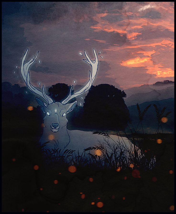 [The White Stag of the Moor- by HennaLucas on DeviantArt]