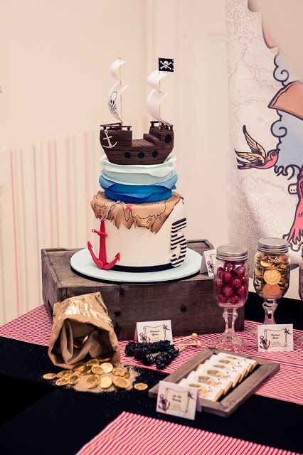 Little Big Company | The Blog: Our Work: Ar Arr Me Hearties a Pirate Party by Little Big Company Cake by Just Call Me Martha, paperie by Ham and Pea Design pic by Lee Bird Photography