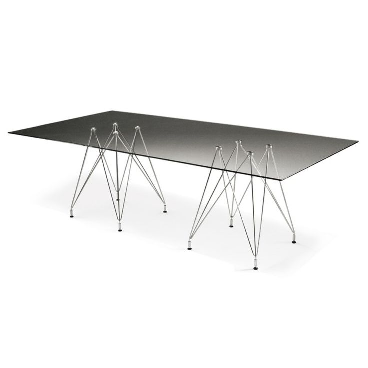 Weightless pedestal table |  Designer: Haldane Martin |  The  toughened glass top can be made in various shapes and sizes, and also other materials such as solid timber, veneered board and stone.