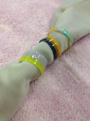 【UVレジン】マスキングテープで指輪を作る