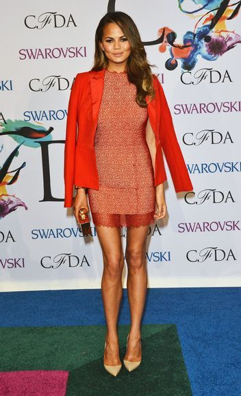 Chrissy Teigen in Rachel Roy at the CFDA Awards