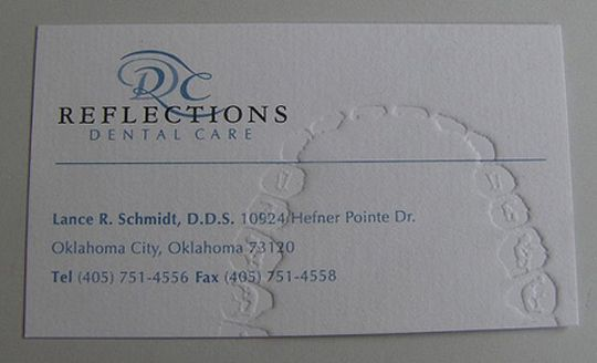 Dental Business Card. Cool. And weird. But mostly cool.