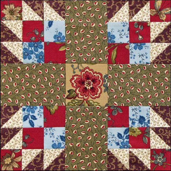 Block #11 Bear's Paw by Becky Brown This month's block for our Westering Women sampler is a version of the traditional Bear's Paw, c...
