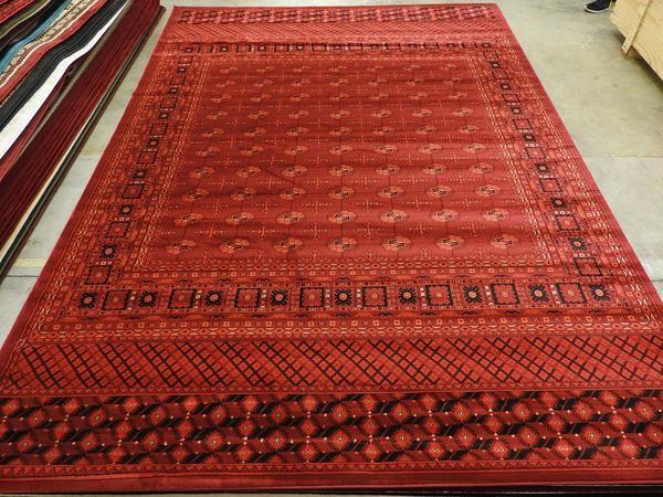 Rich Red Afghan Design Turkish Rug Size: 200 x 290cm