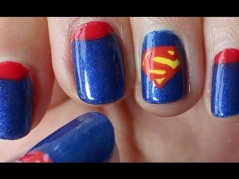 DC Comic Series: Superman Nail Tutorial