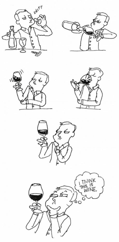 Just some wine