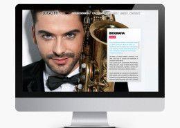 Diseño web de musicos. http://www.basicum.es/portfolio-item/diseno-web-personal-lugotti/