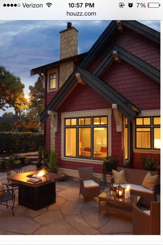 52 Best Red Homes Images On Pinterest Exterior Colors