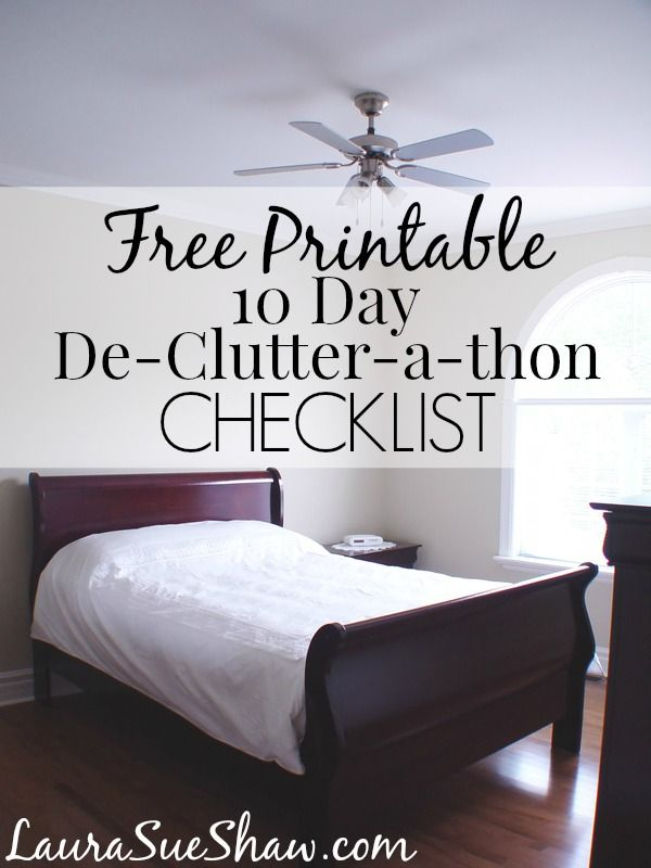 I can finally clear the clutter with this handy checklist! An easy 10-day system to clean out and purge for a cleaner, more organized home.