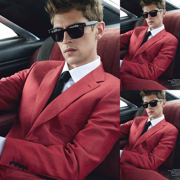 Mathias Lauridsen for Details Magazine. Suit by Brioni. Shirt by Gucci. Tie by Paul Smith. Sunglasses by Sama. - via www.themanhasstyle.com
